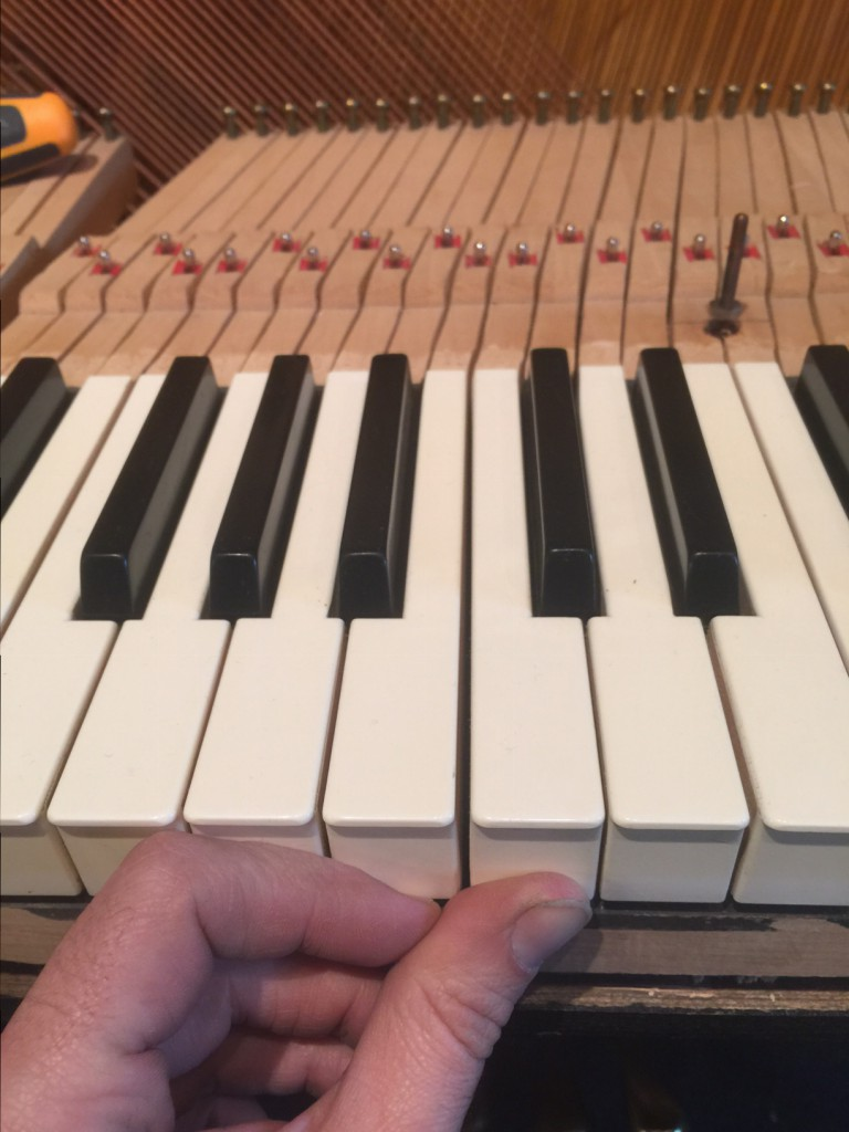 Piano key spacing